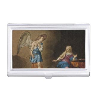 De Engel en Mary van de aankondiging Visitekaarthouder