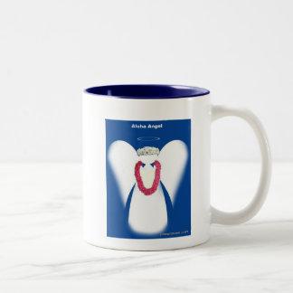 De Engel van Aloha Tweekleurige Koffiemok