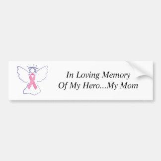 de engel van de borstkanker van het mamma, in het  bumpersticker