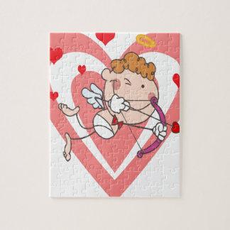 De Engel van de leuke en het Houden van Cupido Legpuzzel