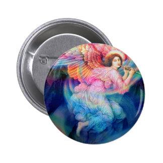 De Engel van de regenboog Ronde Button 5,7 Cm