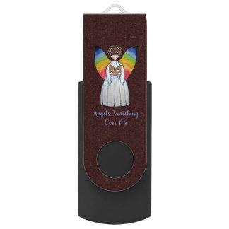 De Engel van de waterverf met de Vleugels die van USB Stick