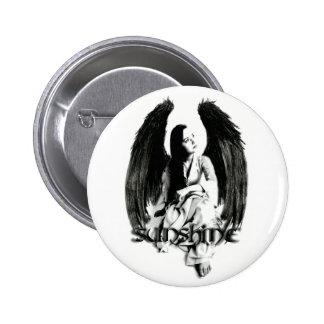 De engel van de zonneschijn ronde button 5,7 cm