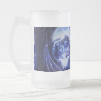 De Engel van Falln in Blauw Matglas Bierpul