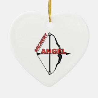 De Engel van het boogschieten Keramisch Hart Ornament