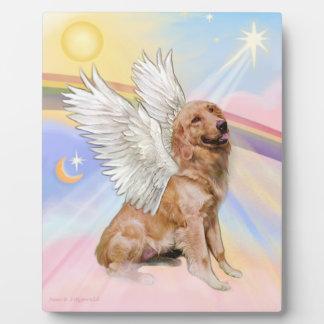 De Engel van het golden retriever (B1) Fotoplaat