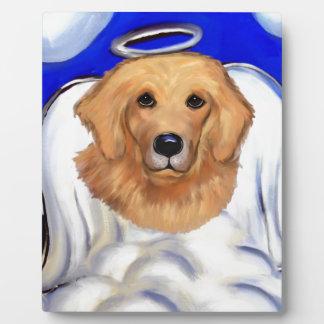 De Engel van het golden retriever Fotoplaat