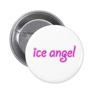De Engel van het ijs Ronde Button 5,7 Cm