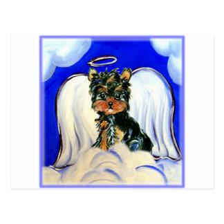 De Engel van Poo van Yorkie Briefkaart