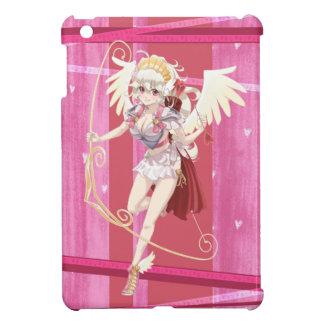 De Engelachtige Cupido van Anime - Roze, op Harten iPad Mini Cover