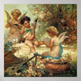 De Engelen van de muziek door Hans Zatzka, Poster