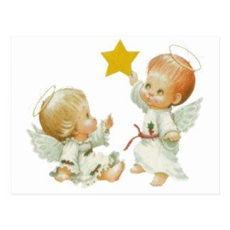 De Engelen van Kerstmis van het baby Briefkaart