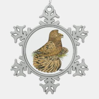 De Engelse Amandel van de Trompetter Tin Sneeuwvlok Ornament