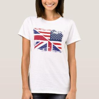 De Engelse Amerikaanse Vlag van Grunge T Shirt