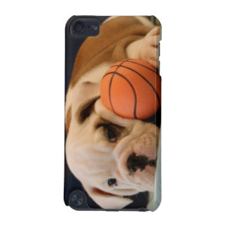 De Engelse Buldog van het Puppy van het basketbal iPod Touch 5G Hoesje
