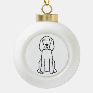 De Engelse Cartoon van de Hond van de Zetter Keramische Bal Ornament