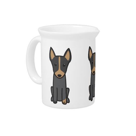De Engelse Cartoon van de Hond van Terrier van het Bier Pitcher