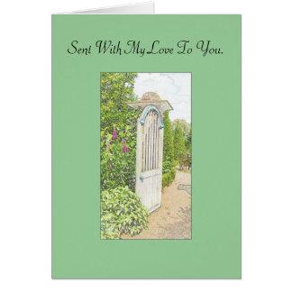 De Engelse die Kaart van de Tuin - met mijn liefde