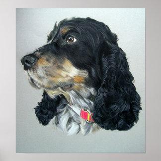 De Engelse Druk van het Poster van de Hond van de