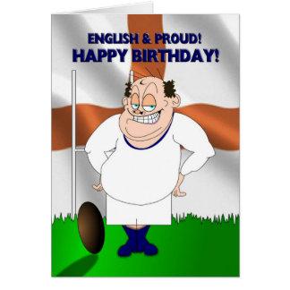 De Engelse en Trotse Kaart van de Verjaardag van