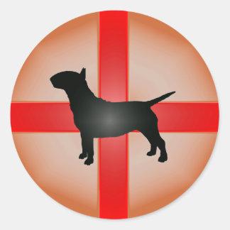 De Engelse Sticker van Bull terrier