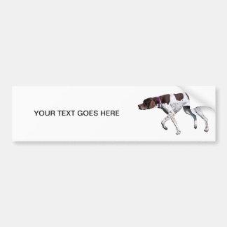 De Engelse van de de hondfoto van de Wijzer sticke Bumpersticker