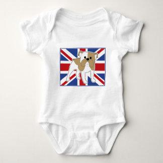 De Engelse Vlag van de Buldog T-shirts