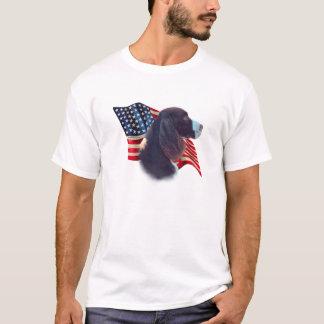 De Engelse Vlag van het Spaniel van de Aanzetsteen T Shirt