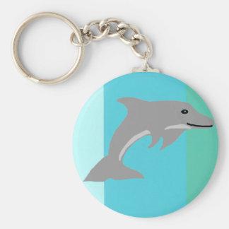 De enige zeer belangrijke ketting van de Dolfijn Basic Ronde Button Sleutelhanger