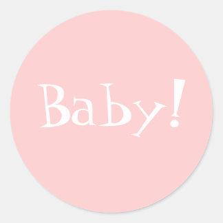 De Envelop Seal_Girl_Baby van Annoncement van de Ronde Sticker