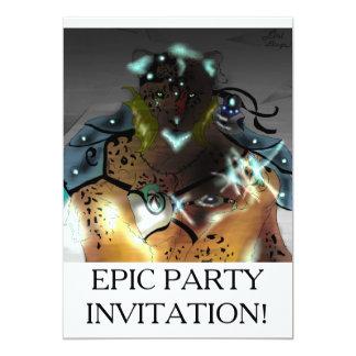 De Epische Partij Invatations van Mage van het Ijs 12,7x17,8 Uitnodiging Kaart