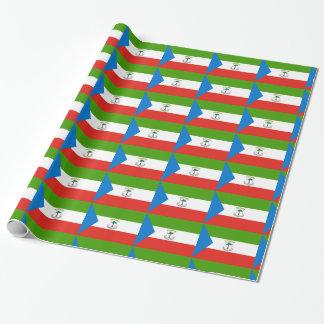 De equatoriale Vlag van Guinea Inpakpapier