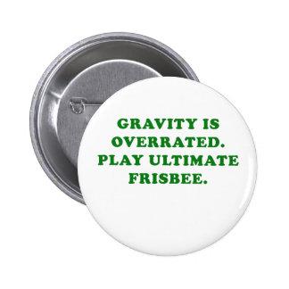 De ernst is Overschat Spel Uiteindelijke Frisbee Ronde Button 5,7 Cm