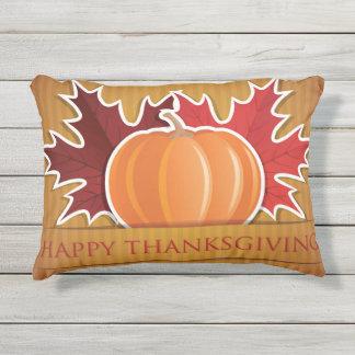 De esdoorn en de pompoen van de Thanksgiving Buitenkussen