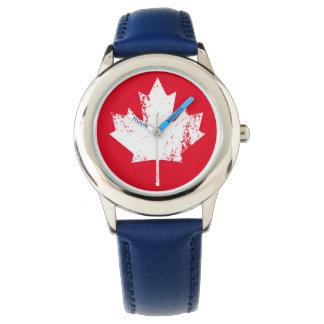 De Esdoorn van de Vlag van Canada van Grunge - Polshorloge