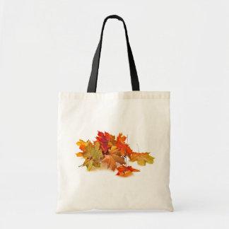 De esdoornbladeren van de herfst draagtas
