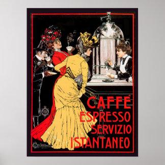 De Espresso Servizio Istantaneo van Caffe Poster
