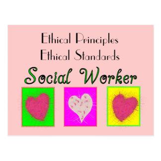 De Ethische principe-Ethische Normen van de Briefkaart