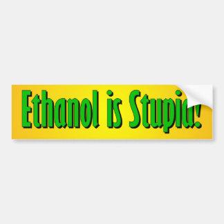 De ethylalcohol is Stom Bumpersticker