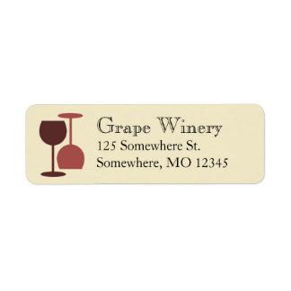 De Etiketten van de Bar van de wijnmakerij/van de