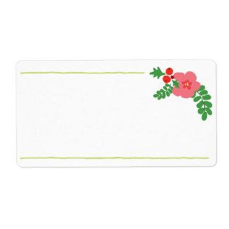 De Etiketten van de Flora van Kerstmis Verzendlabel