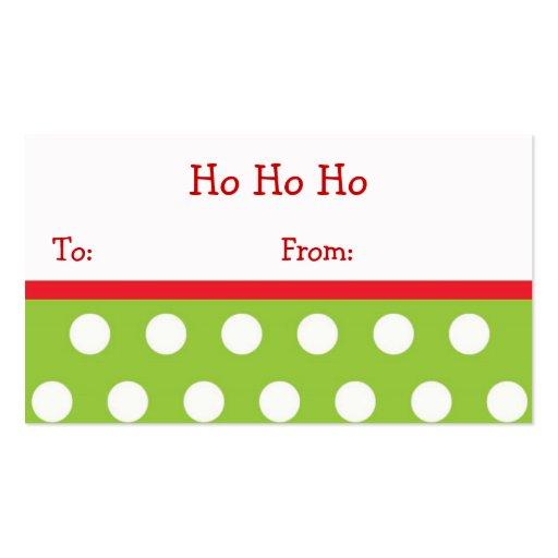 De Etiketten van de Gift van Kerstmis van Ho Ho va Visitekaartjes Sjabloon