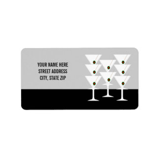 De Etiketten van de Post van het Adres van martini