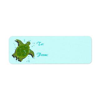 De Etiketten van de Schildpad van het zee