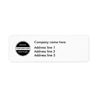 De Etiketten van de Sjabloon Adres van het Retouretiket