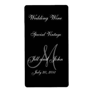 De Etiketten van de Wijn van het huwelijk met
