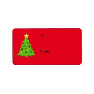 De Etiketten van Kerstmis voor de Giften van de Addressticker