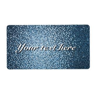 De etiketten van Shipiping met feestelijk blauw, Verzendlabel