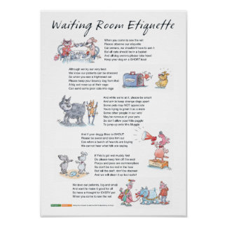 De Etiquette van de wachtkamer - A3 Poster