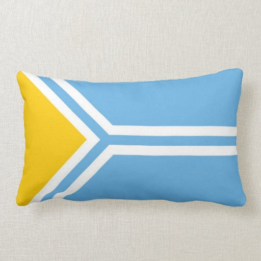 De etnische vlag tuvinians Siberiu00eb van Toeva Kussentjes : Zazzle